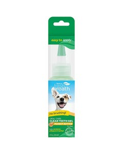 TropiClean Fresh Breath Oral Care Gel for Dogs With Peanut Butter Flavoring