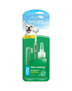 Tropiclean Fresh Breath Oral Care Kit for Small & Medium Dogs