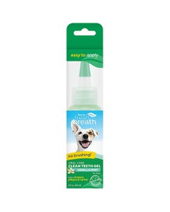 TropiClean Fresh Breath Oral Care Gel for Dogs With Vanilla Mint Flavoring