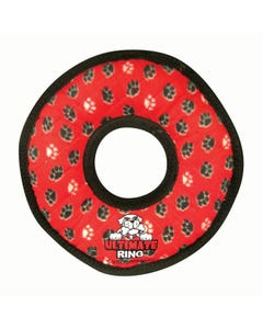 Tuffy's Dog Toy - Ultimate Ring - Red Paws