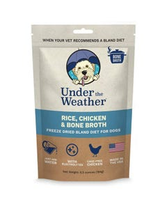 Under the Weather Bland Diets for Sick Dogs & Sensitive Stomachs - Chicken, Rice & Bone Broth