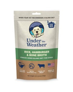Under the Weather Bland Diets for Sick Dogs & Sensitive Stomachs - Hamburger, Rice & Bone Broth