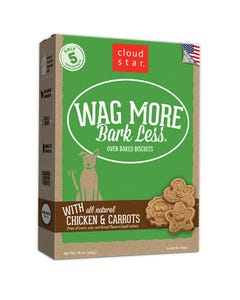 Cloud Star Wag More Bark Less Baked Biscuits - Chicken & Carrots