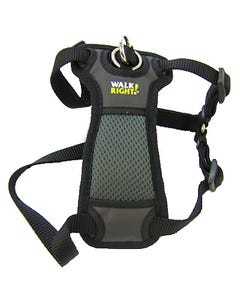 Walk Right! Padded Front Dog Harness, Black
