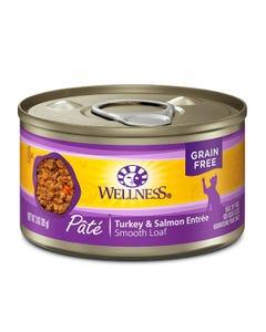 Wellness Complete Health Pate - Turkey & Salmon Canned Cat Food - 3 oz