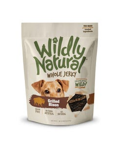 Wildly Natural Whole Jerky Treats for Dogs - Grilled Bison