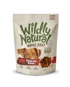 Wildly Natural Whole Jerky Treats for Dogs - Thick Cut Bacon