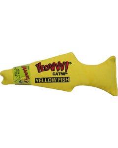 Yeowww! Catnip Yellow Fish Cat Toy