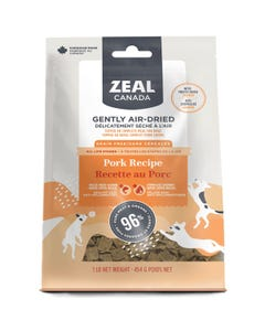 Zeal Gently Air-Dried Pork with Freeze-Dried Salmon Recipe for Dogs