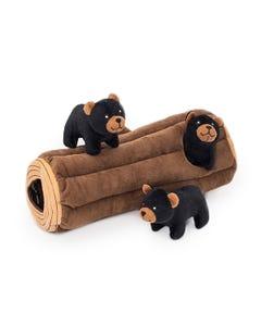 ZippyPaws Burrow - Black Bear Log