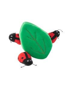 ZippyPaws Burrow - Ladybugs in Leaf - Set