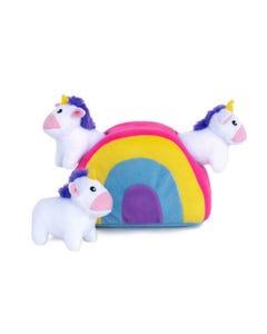 ZippyPaws Burrow - Unicorns in Rainbow
