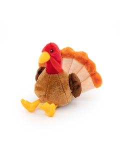 ZippyPaws Tucker the Turkey Dog Toy - Three quarter left view