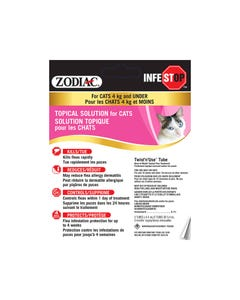 Zodiac Infestop Flea & Tick Topical Solution for Cats - Under 4 kg