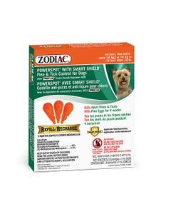 Zodiac Powerspot with Smart Shield Flea & Tick Control Refills for Dogs Under 14 kg