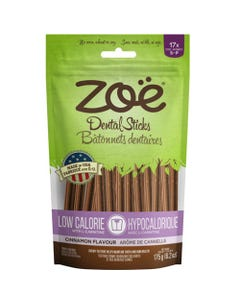 Zoe Dental Sticks for Dogs - Low Calorie - Cinnamon Flavour