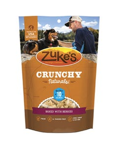 Zukes Crunch Naturals 10s Dog Treats Baked with Berries Front