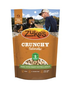 Zukes Crunch Naturals 5s Dog Treats Baked with Peanut Butter & Apple Front