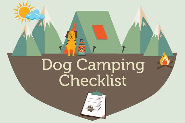 Dog Camping Checklist (Infographic)