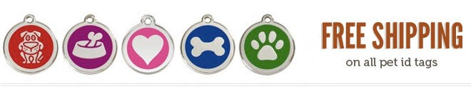Free Shipping on all Dog ID Tags