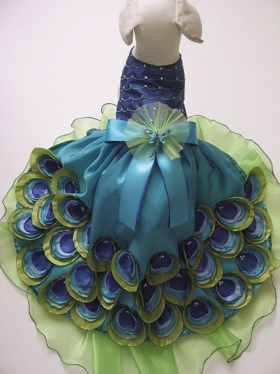 Peacock Dog Dress