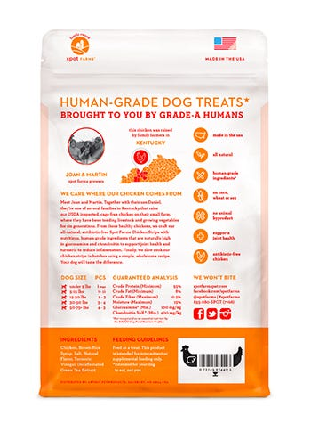 Spot farms treat bag