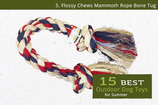 Flossy Chews Mammoth - Best Outdoor Dog Toys for Summer