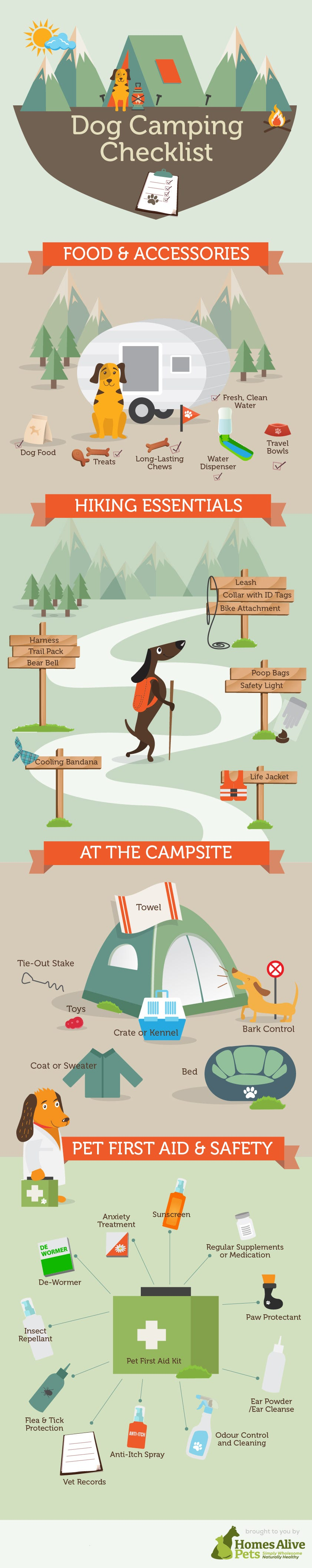Dog Camping Checklist Infographic